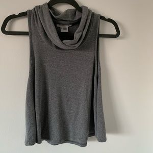 So soft ribbed turtle neck tank top